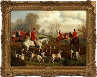 hunt scene by edward benjamin herberte