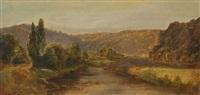 landschap met stroom by johannes (jan) tavenraat