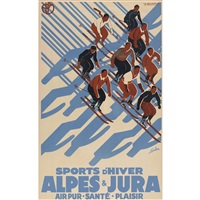 sports d'hiver alpes & jura by eric de coulon