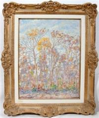 landscape with autumn trees by antonio alcantara
