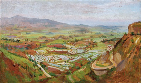 terraced field in chongqing by qin xuanfu