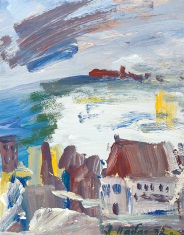 stadt am meer study by alexandre arkadevich labas