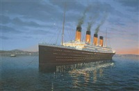 titanic at anchor by adrian rigby