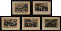 five civil war battles by currier & ives (publishers)
