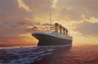 titanic sunset by adrian rigby