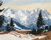 wettersteingebirge im winter by carl reiser