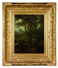 moonlit scene with native american by ralph albert blakelock