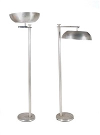 pair torchere floor lamps by kurt versen