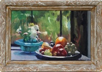 fruit still life by ivan g. olinsky
