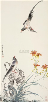 凤求凰 (bird and flowers) by sima zhong