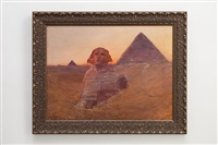 die sphinx von gizeh im morgenrot by otto pilny