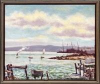 harbor scene by hugo melville fisher
