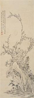 淡雅风流 立轴 纸本 by qian du