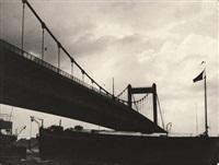strassenbrücke über den rhein in köln-mülheim by wolff & tritschler