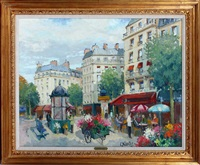paris scene by constantine kluge
