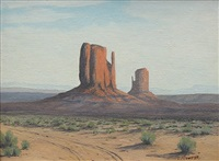 the mittens, monument valley by g. barry atwater