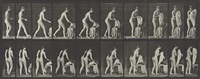 animal locomotion, female (toilet, preparing to put on clothing), plate 415 by eadweard muybridge