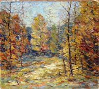 fall forest by herbert nelson hooven