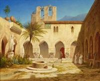 vue av klostergården by gustaf wilhelm palm