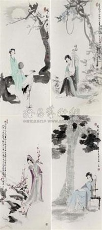 人物 in 4 parts by wang yisheng