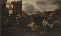 paesaggio con rovine, armenti e pastori by italian school-roman (17)