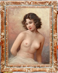 semi-nude female figure by jean jannel
