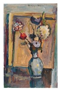bunte blumen in vase by wolfgang von websky