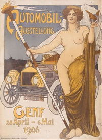 automobil-ausstellung genf 1906 by (paul krawutschke) pik