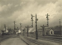 sortie de la gare by léonard misonne