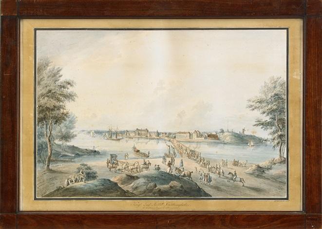 kongl lust slottet drottningholm by johan fredrik martin