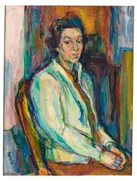 schönchen i - portrait einer sitzenden dame im salon by wolfgang von websky
