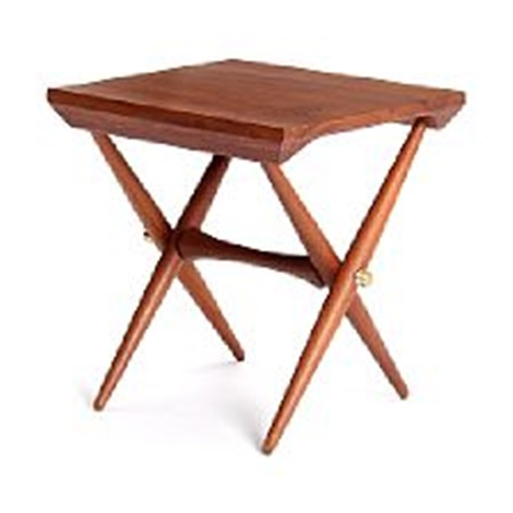 A teak lamp table with crossed legs by jens quistgaard on artnet a teak lamp table with crossed legs by jens quistgaard aloadofball Images
