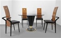un tavolo e quattro sedie by pierre cardin