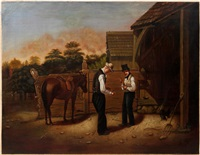 jockey whittling a crop by william sidney mount