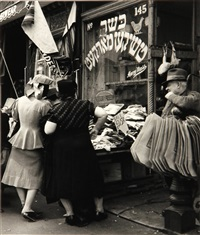 jewish shop on the lower east side, manhattan by andreas feininger