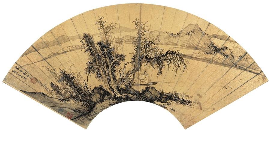 秋江独钓图 landscape by zhou chen