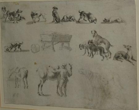 dogs study by johann noah von bemmel