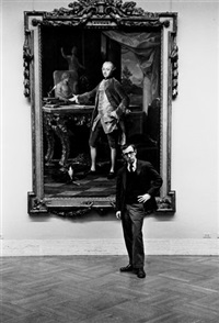 woody allen at the metropolitan museum of art by ruth orkin