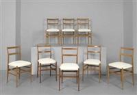 otto sedie leggera by gio ponti