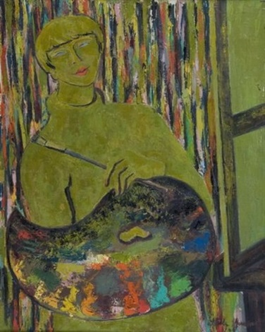 portrait de peintre by stella mertens