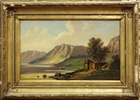 lake george (new york) and south platte (nebraska) (2 works) by hudson river school