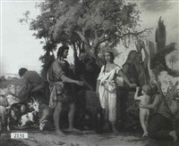 depiction of rebecca at the well by alexander newmann