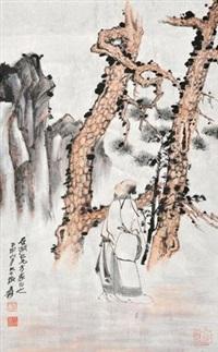 听松图 by zhang daqian
