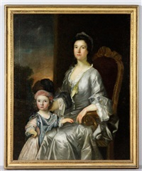 portriat of a mother and daughter by charles willson peale