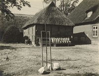 untitled (courtyard) / untitled (garden) / untitled (pram) (3 works) by albert renger-patzsch