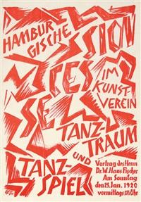 hamburgische secession im kunstverein, tanz-traum und tanz-spiel by otto fischer-trachau
