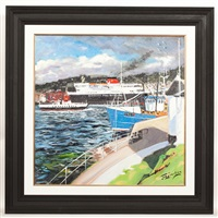 to & fro, oban harbour by james somerville lindsay