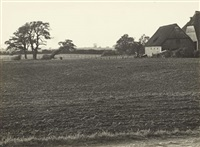 untitled (field) / untitled (house on the edge of the forest) / untitled (farm machinery) (3 works) by albert renger-patzsch