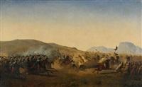 kavalleribatalj vid atlasbergen by henrik august ankarcrona