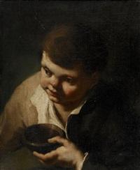 ung gosse med skål by domenico maggiotto